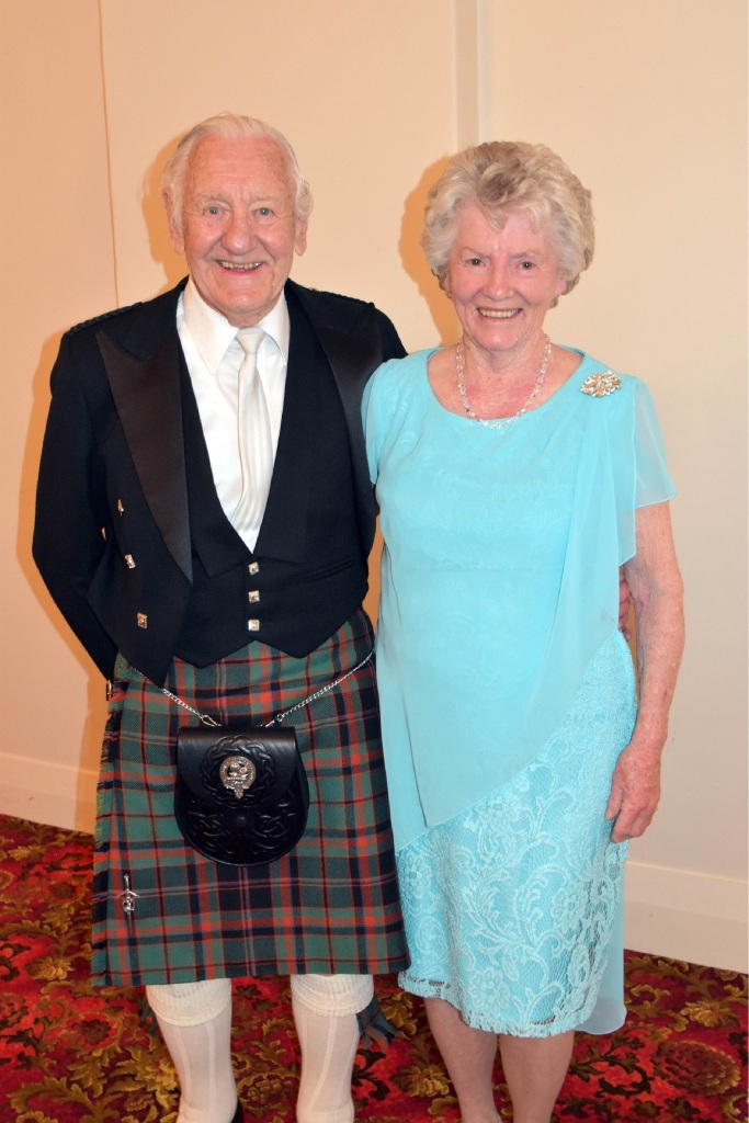 Terry and Kathy Buchan when the were married and now 60 years later.