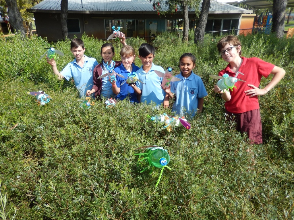 Year 5 students Rhys Quinn, Isabella Smith, Siann Chin, Charlie Kapita, Ariqah Azahar and Kailen Shepherd |enjoyed learning all about insects.