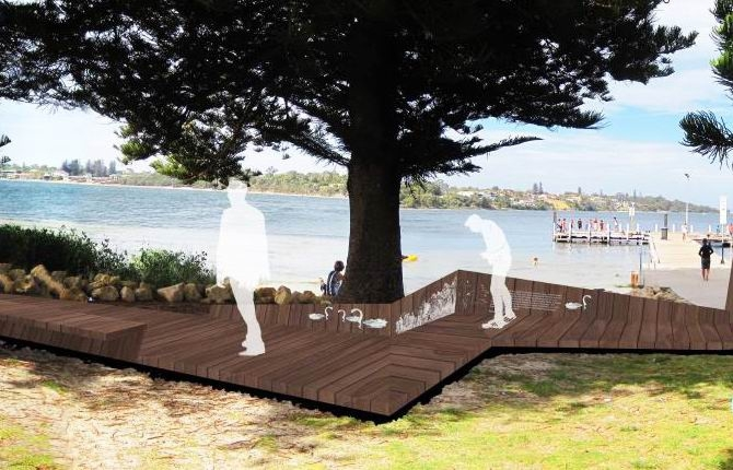 An artist's impression of the planned boardwalk at Point Walter.
