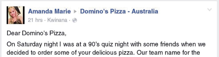 Mandurah quiz lovers get 'Rickrolled'�� by Domino's delivery driver