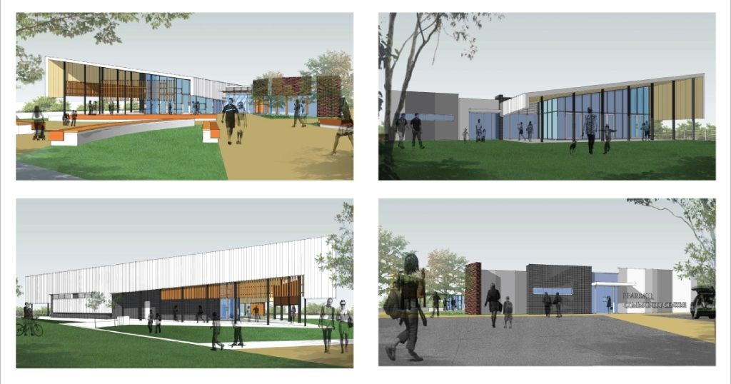 An artist's impression of the Pearsall Hocking community centre.