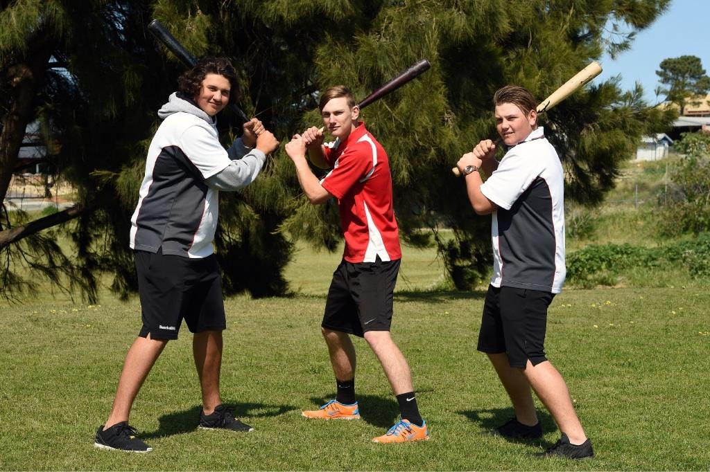 South Fremantle High School students Jake Taylor, Josh Rawlinson and David John.