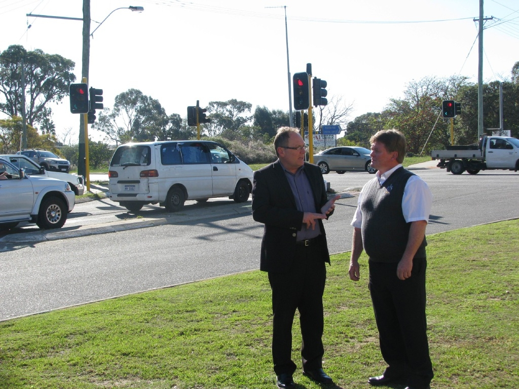 David Templeman and Shane Jones at the intersection.
