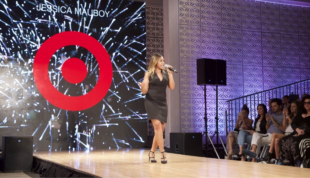 Jessica Mauboy performing at thePerth Fashion Festival Target spring/summer 2015 runway show.