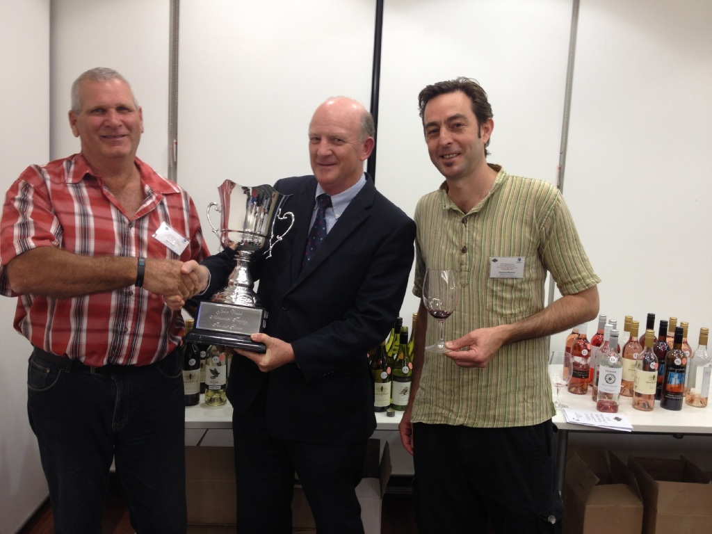 Millbrook Winery's Alan Dingle and Damien Hutton with local MLA John Day.