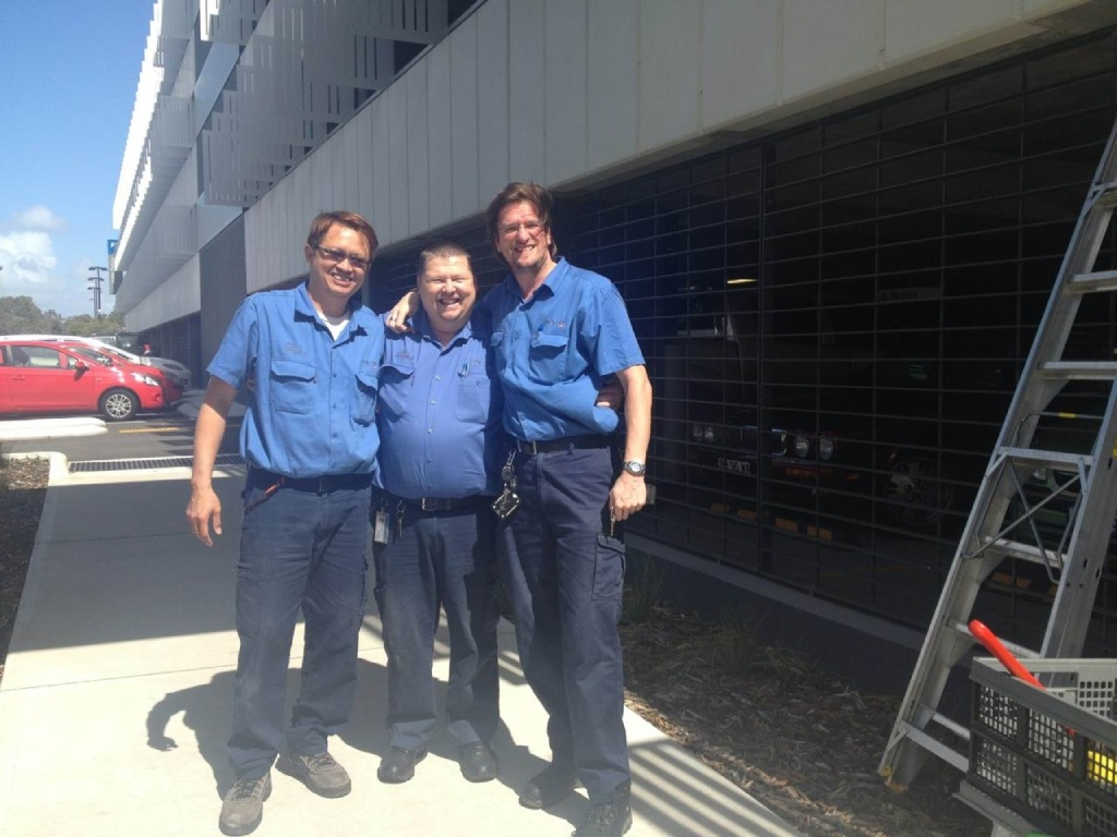 David Lim, Brian Begg and Paul Bradshaw after the rescue.