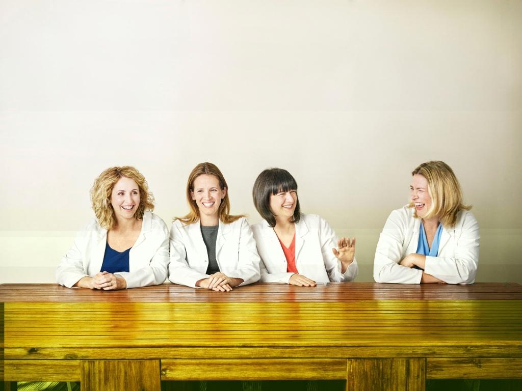 Siobhain Burn, Ivana Pereza, Marina Shufrin and Angela Ward helped to create Brownes' new yoghurt range.
