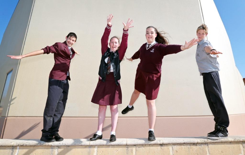 From left: Josh Jones (14), of Ellenbrook, Sophie Mackay (17), of Ellenbrook, Ruth Kleyheeg (15), of Henley Brook, and Ethan van Heerwaarden (15), of Ellenbrook.  Picture: David Baylis  d444089