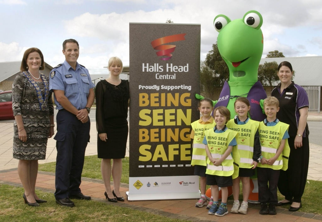 The Being Seen, Being Safe Campaign was launched at South Halls Head Primary School last week.