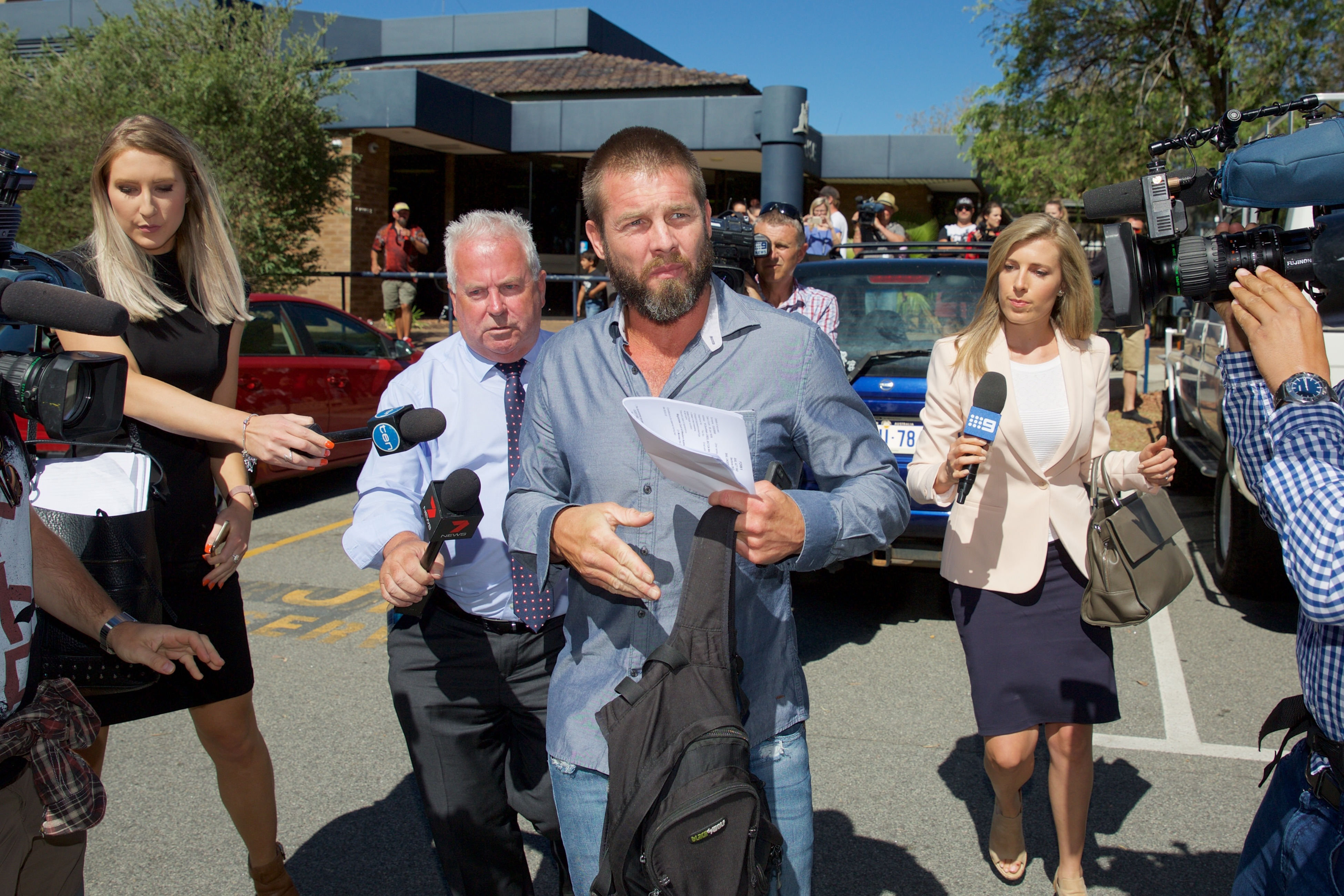 Cousins leaves Armadale Magistrates Court in December last year. Photo: AAP