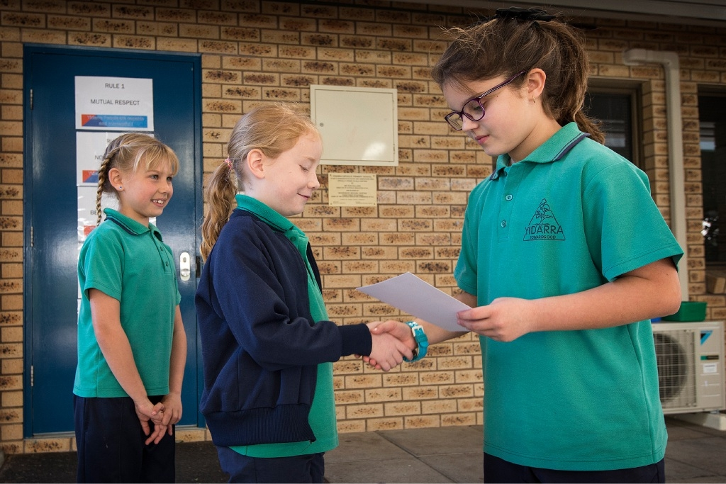 Student enjoys time at the top as principal for the day at Yidarra Catholic Primary