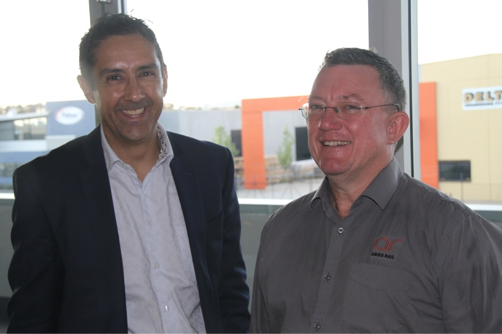 City of Wanneroo's Ian Martinus and the Enterprise Business Centre's Ewan McAllister.
