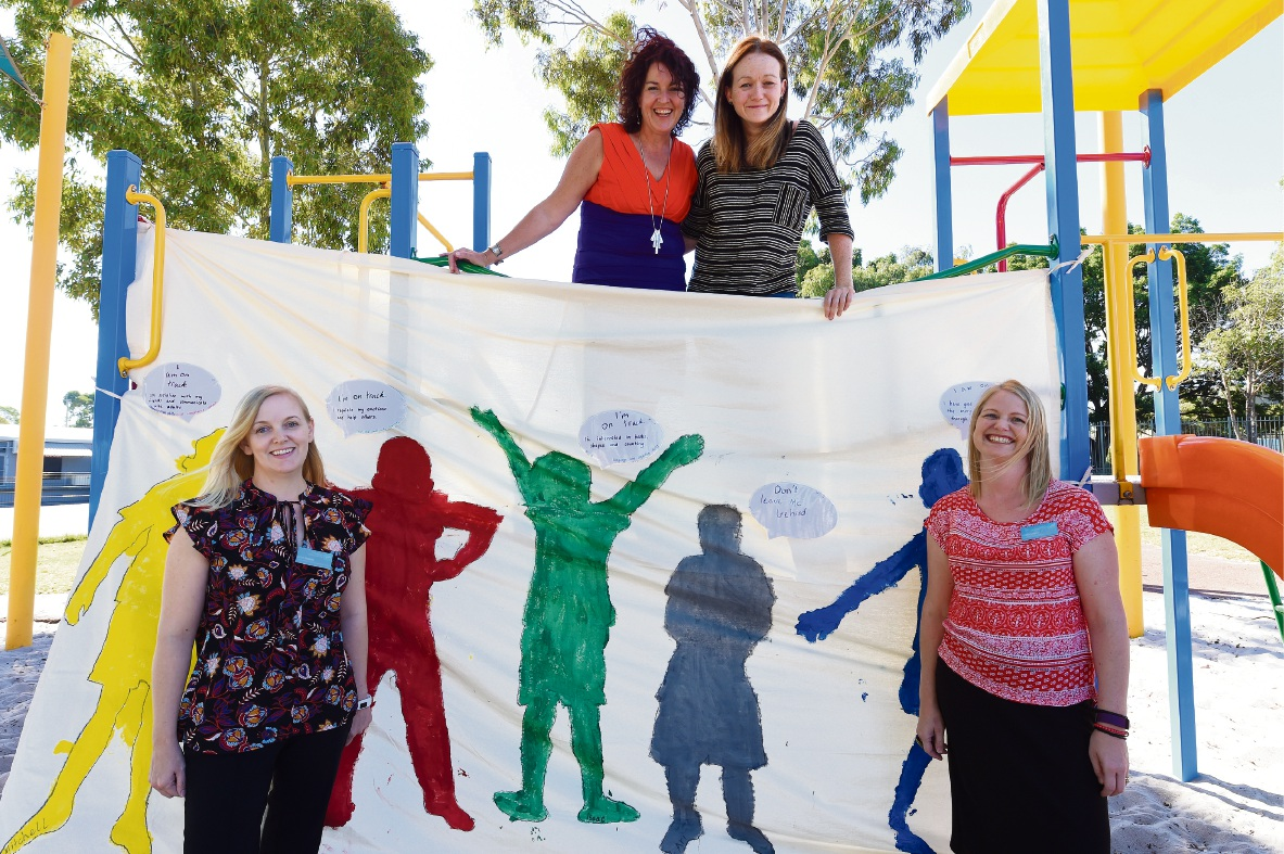 Kylie Tanner, Jane Miller, Julie Leijser and Cath Franco of Connecting Community for Kids. Picture: Jon Hewson