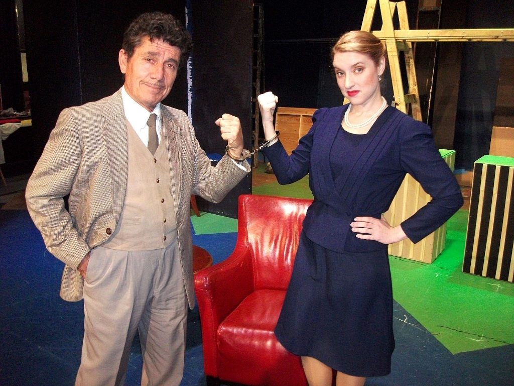 Gino Cataldo playing Richard Hannay and Emma Shaw as Pamela.