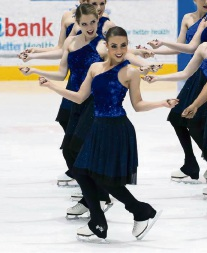 Ice ice baby... Natalie Fardella will represent Australia at the 2017 Synchronised Skating World Championships in the US in April.