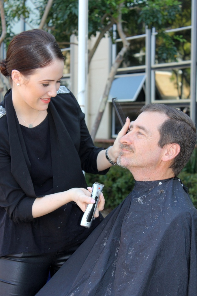 Anthony Lunt with stylist Misty from East Perth salon Angelique Q.