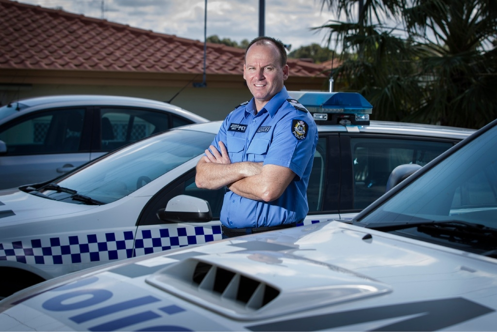 Senior Sergeant James Bradley has taken over at Cockburn police station. Picture: Will Russell        www.communitypix.com.au   d444335