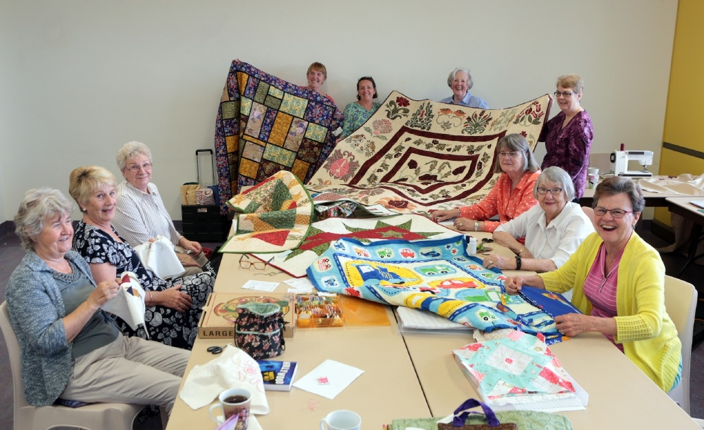 Quilters from the Wanneroo Senior Citizens' Club. Picture: Martin Kennealey www.communitypix.com.au d444370