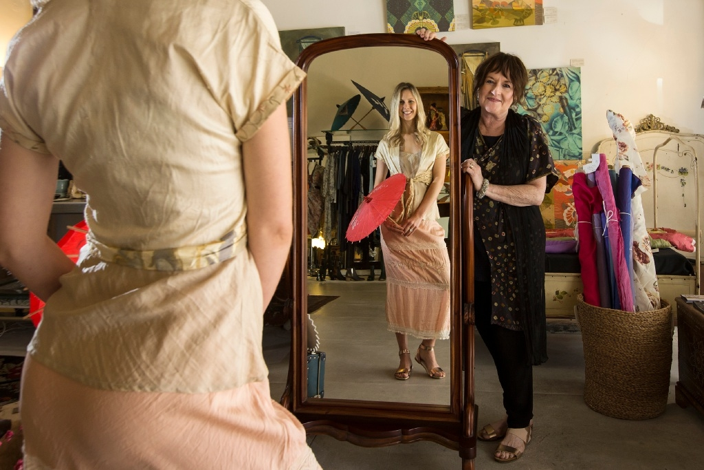 Loving the concept of sustainable shopping: Stephanie Whife and Love in Tokyo owner Sheree Dornan. Picture: Will Russell www.communitypix.com.au   d443940