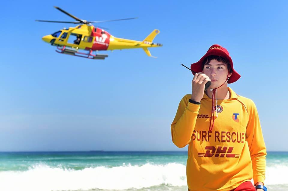 The lifesaver rescue helicopter is operating daily patrols over the school holidays.