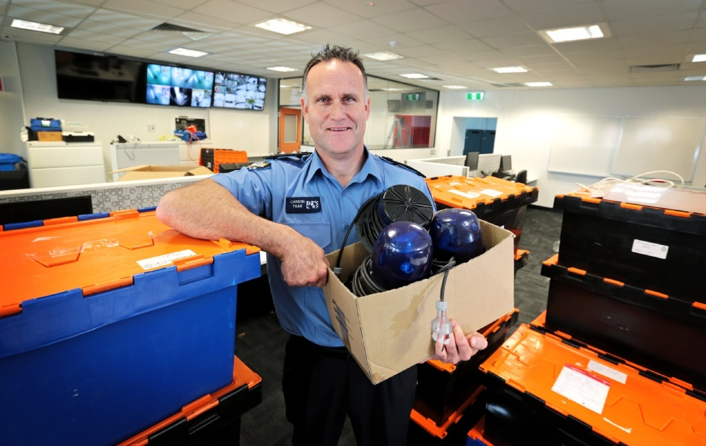 Acting Inspector Andy Carson at the refurbished |Mirrabooka Police Complex. Picture: David Baylis  d444140