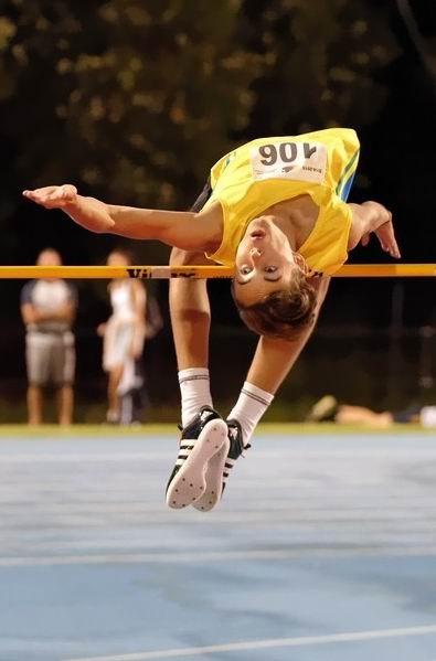 High jumper John Chegwidden broke a 19-year-old State record recently.