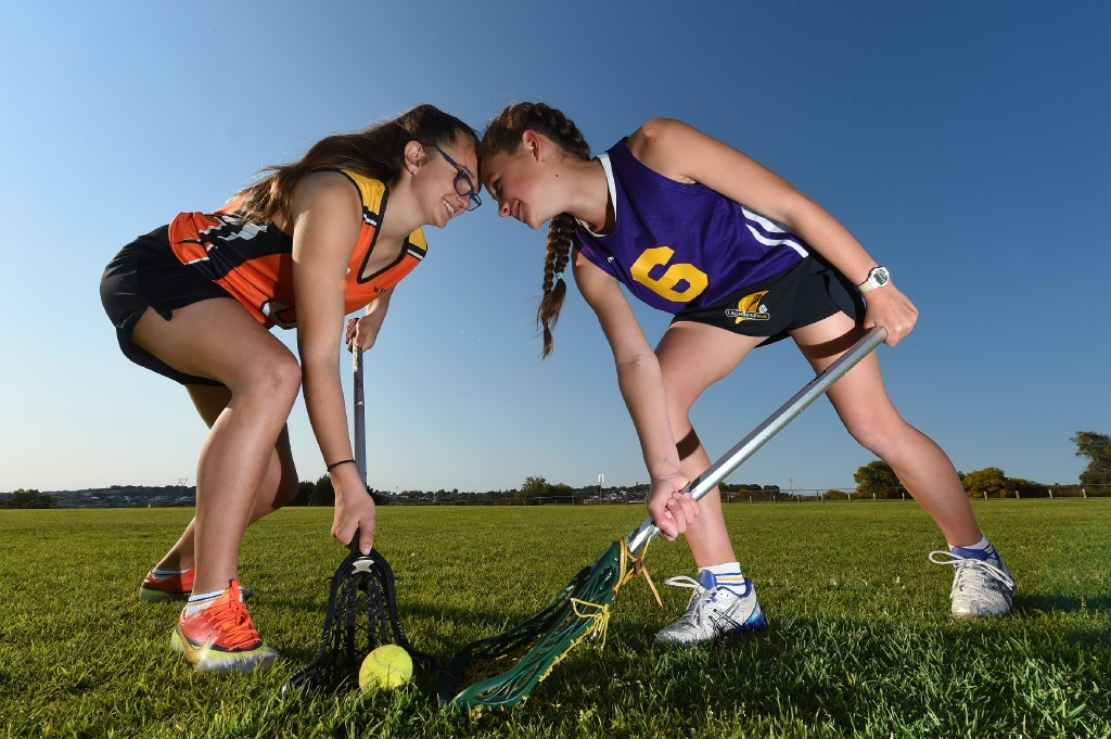 Cousins Skylar Leavy and  Apryl Richards represented WA in lacrosse.Picture: Jon Hewson www.communitypix.com.au         d443698