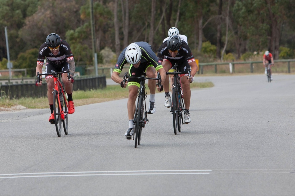 Norm Shattock wins the A-Grade race.