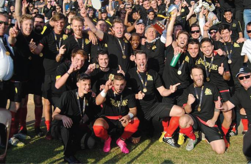 The winning Forrestfield soccer team. Picture: Peter Simcox