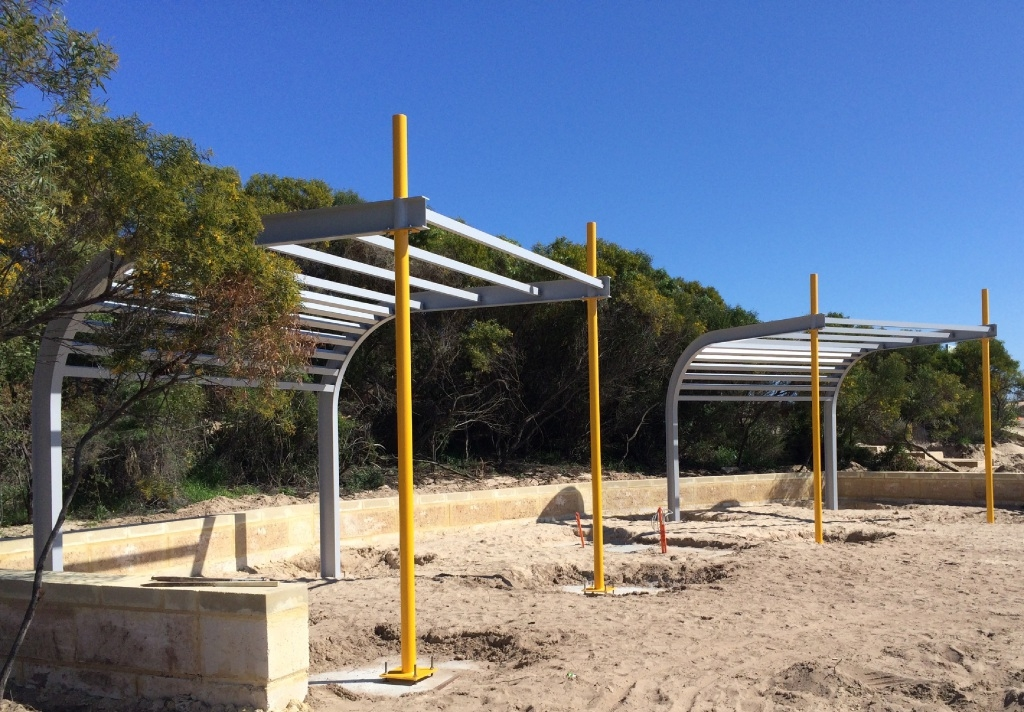 The new park in Golden Bay is nearing completion.