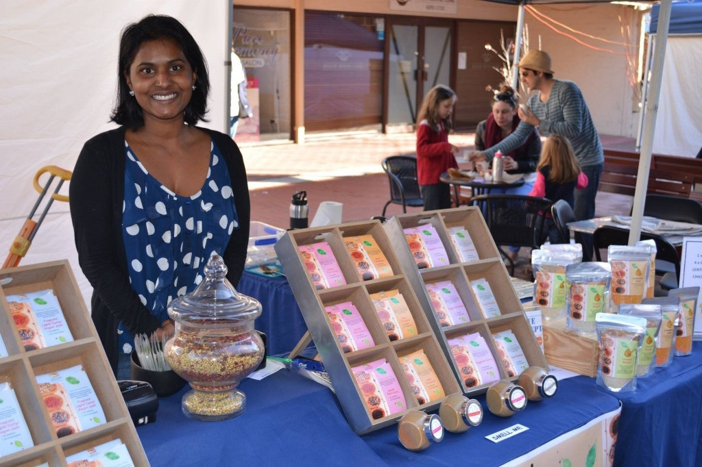 Sapphire Spice cook Kala Lambert is offering free spicy tastings at her night market stall during Kalamunda's inaugural night markets.