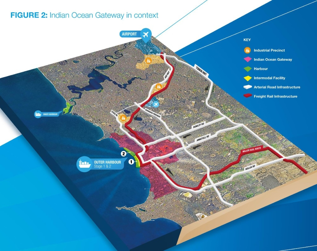 The Indian Ocean Gateway map, showing a proposed outer harbour.