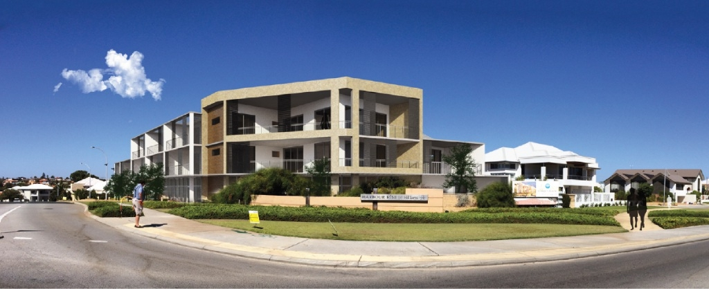 An artist's impression of the development as viewed from Angove Drive.