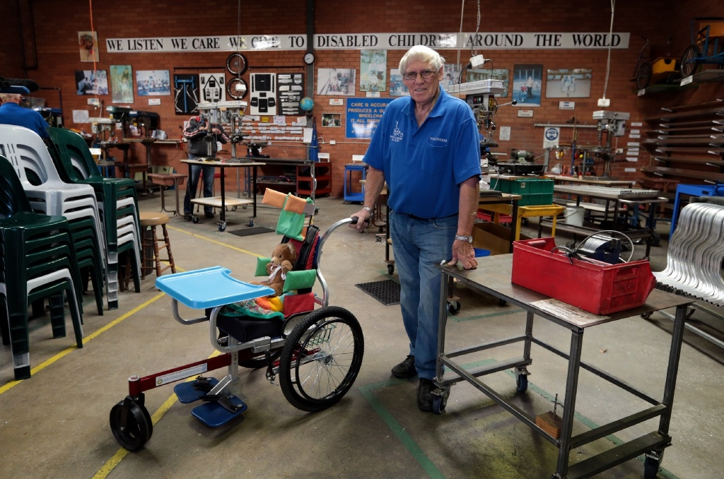 Brother Olly and his team make 300 wheelchairs a month. www.communitypix.com.au   d444669