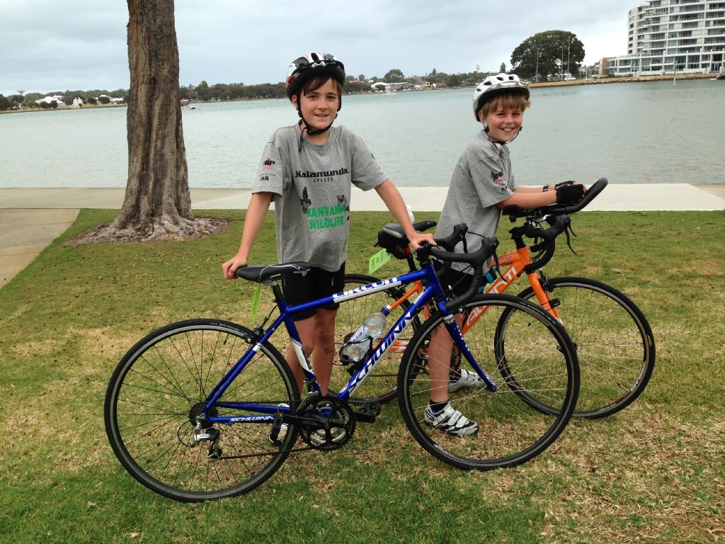 Jack Binns and Treharne Woolfrey finished their ride in Mandurah.
