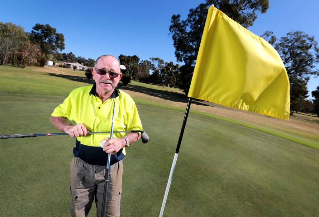 Brian Milburn is excited Chequers Golf Club is getting $800,000 to upgrade to restore it to a premier golf course. Pic: David Baylis d444439