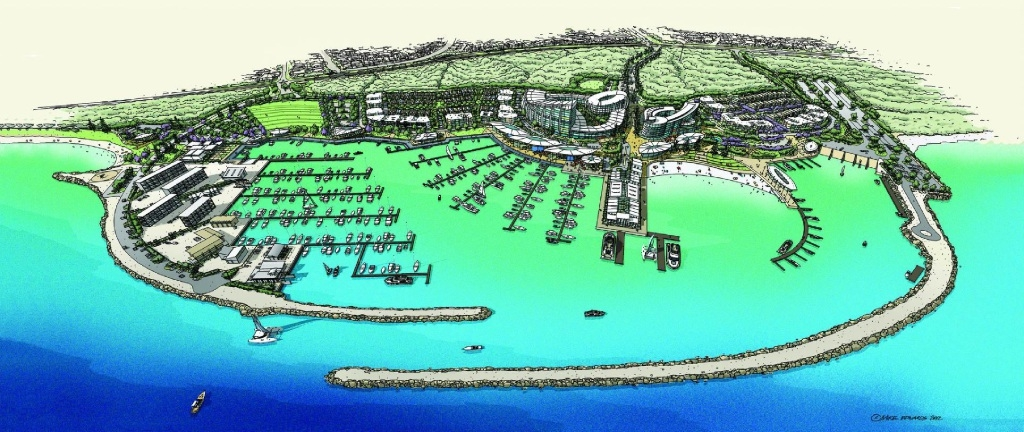 An artist's impression of the proposed marina.
