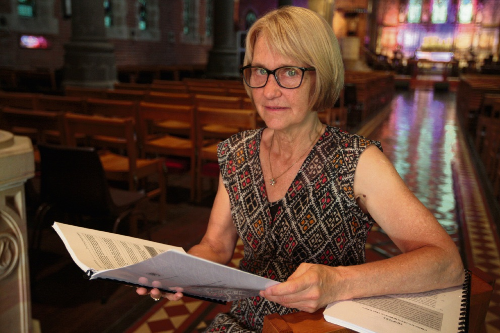 Professor Melissa Haswell was at the meeting in St Georges Cathedral. Picture: Bruce Hunt