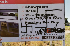 Swastikas among racist graffiti in Mandurah