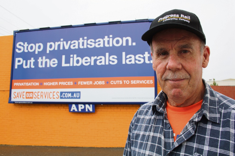 Retired electrical technician Charlie Quinsee, of Osborne Park, is worried selling Western Power will mean higher costs, fewer jobs and worse services. Picture: Giovanni Torre.