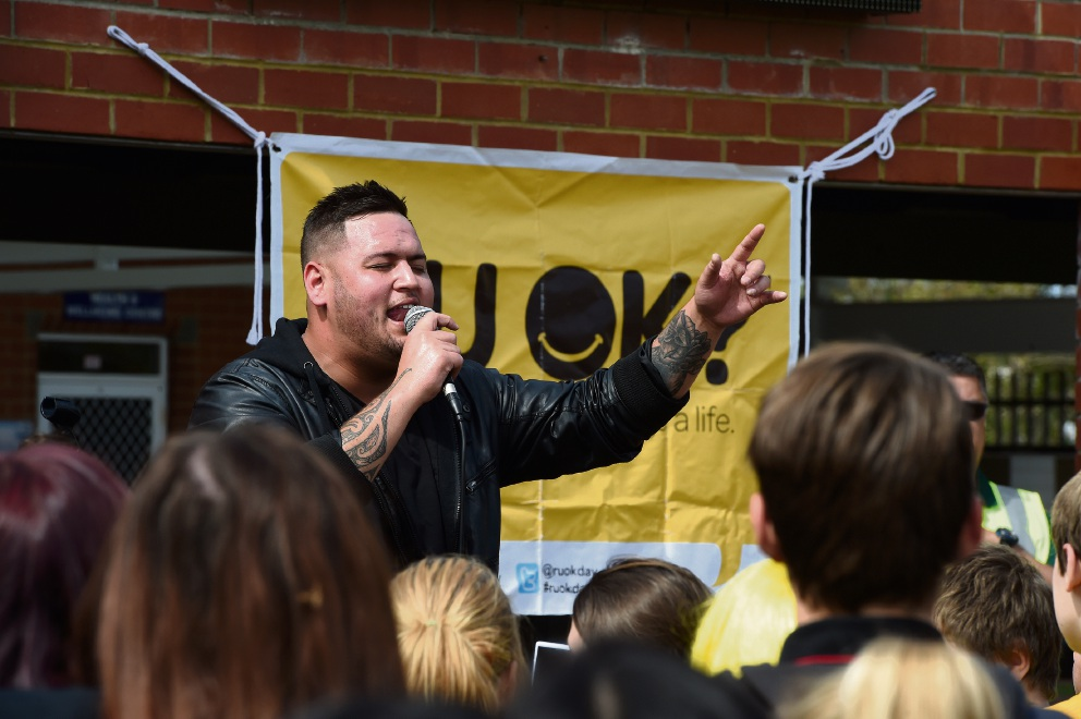 X Factor's Big T was at Coodanup College for RUOK? Day