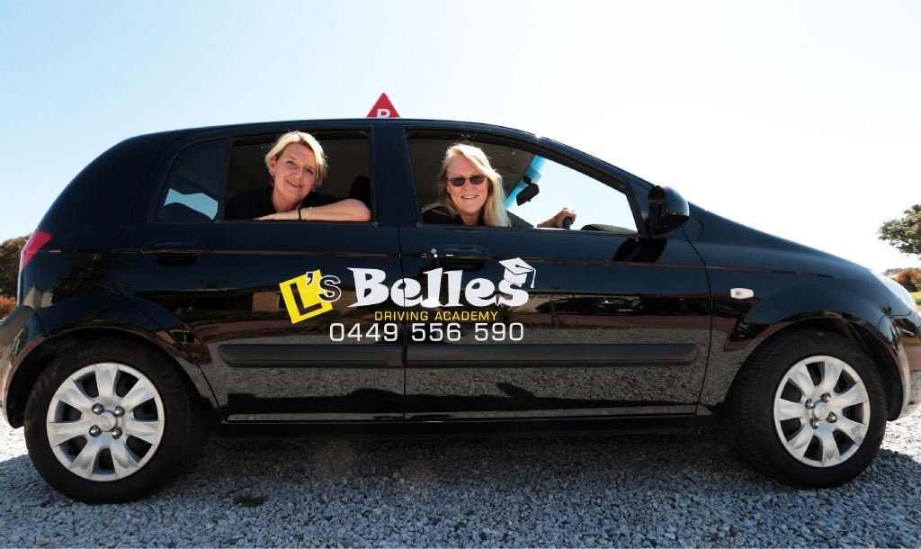 Jo Preston and Karen Arnold partnered recently to start L's Belles Driving Academy.Picture: Martin Kennealey        www.communitypix.com.au   d444915