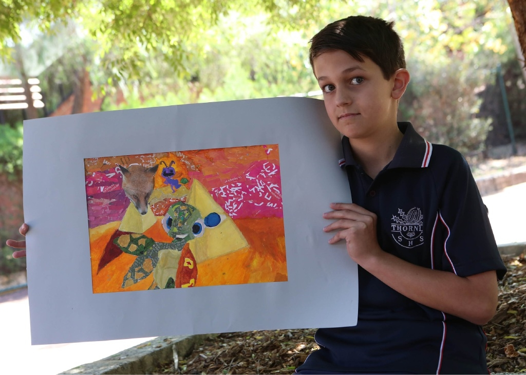 Thornlie students show off their talent in art exhibition