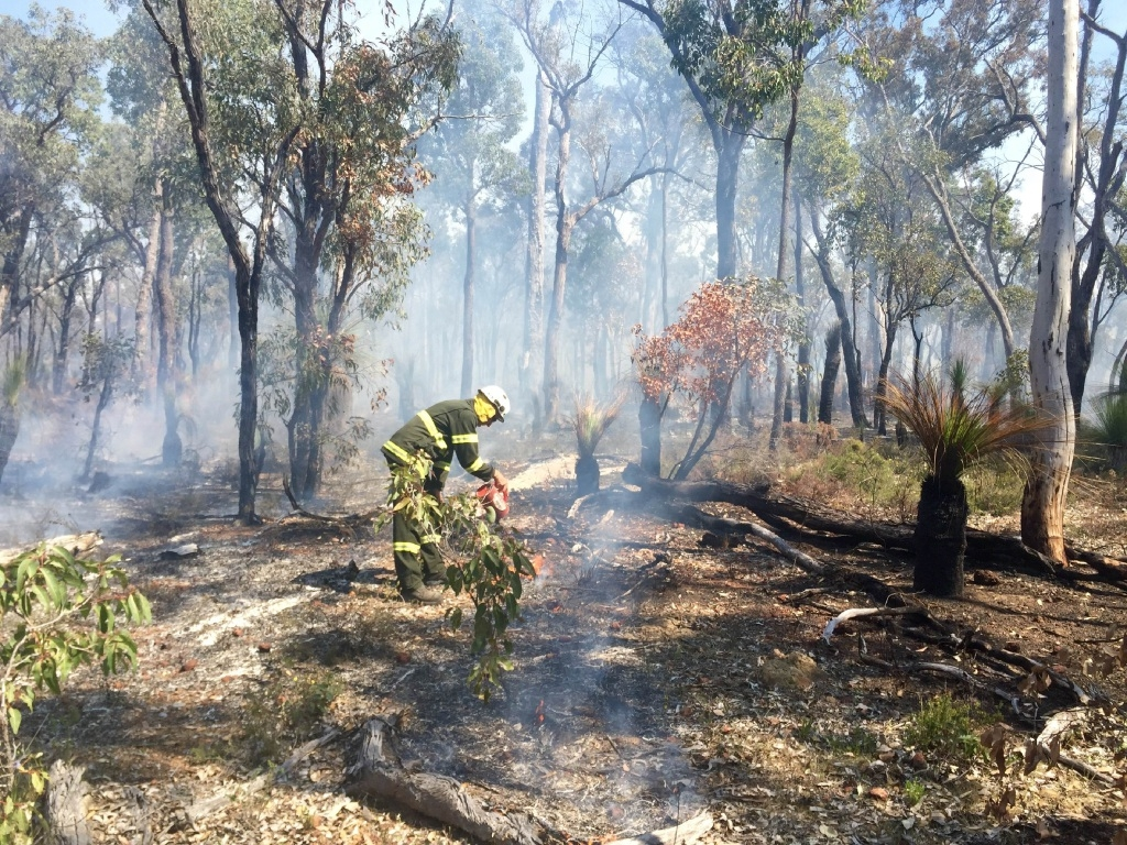 Prescribed burning being conducted in the Perth Hills. Picture: Jennifer Eliot/Parks and Wildlife