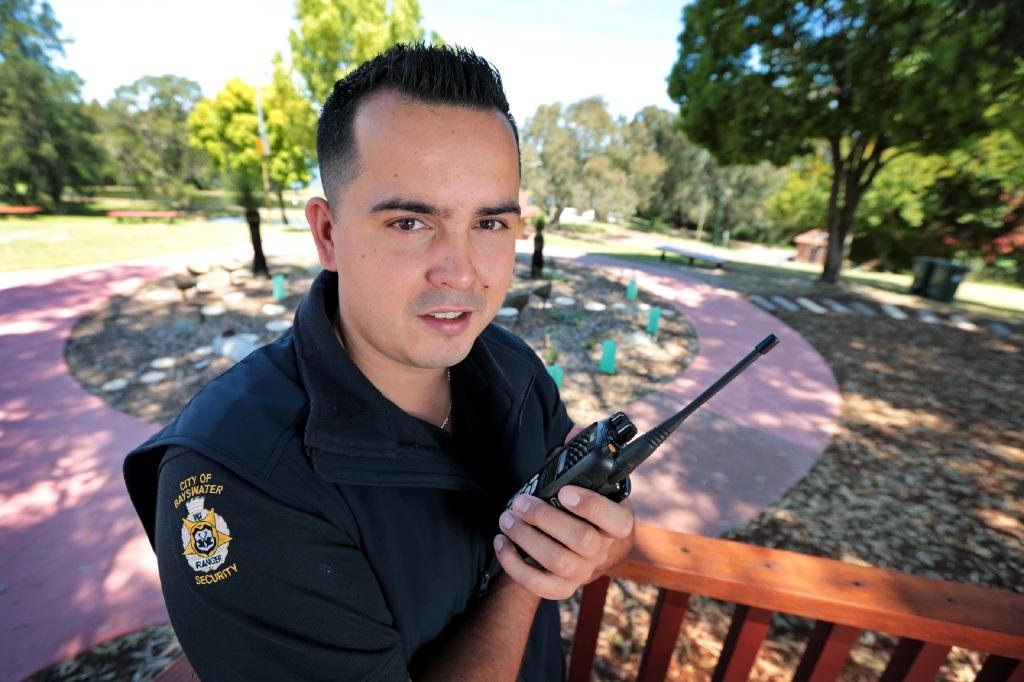 City of Bayswater ranger/security officer Radomir Petrovic.Picture: David Baylis www.communitypix.com.au   d445161