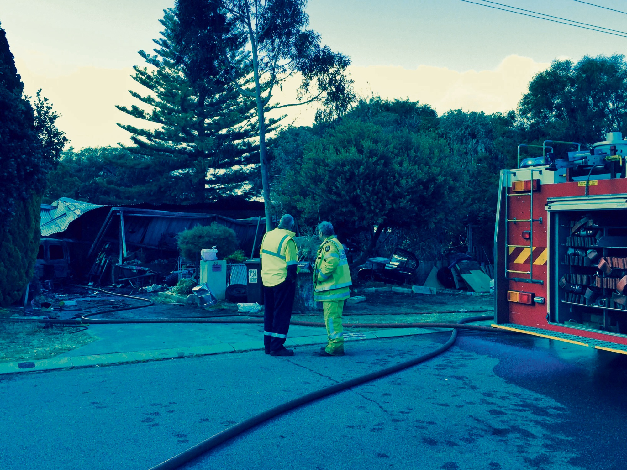 The aftermath of a house fire in Falcon this morning.