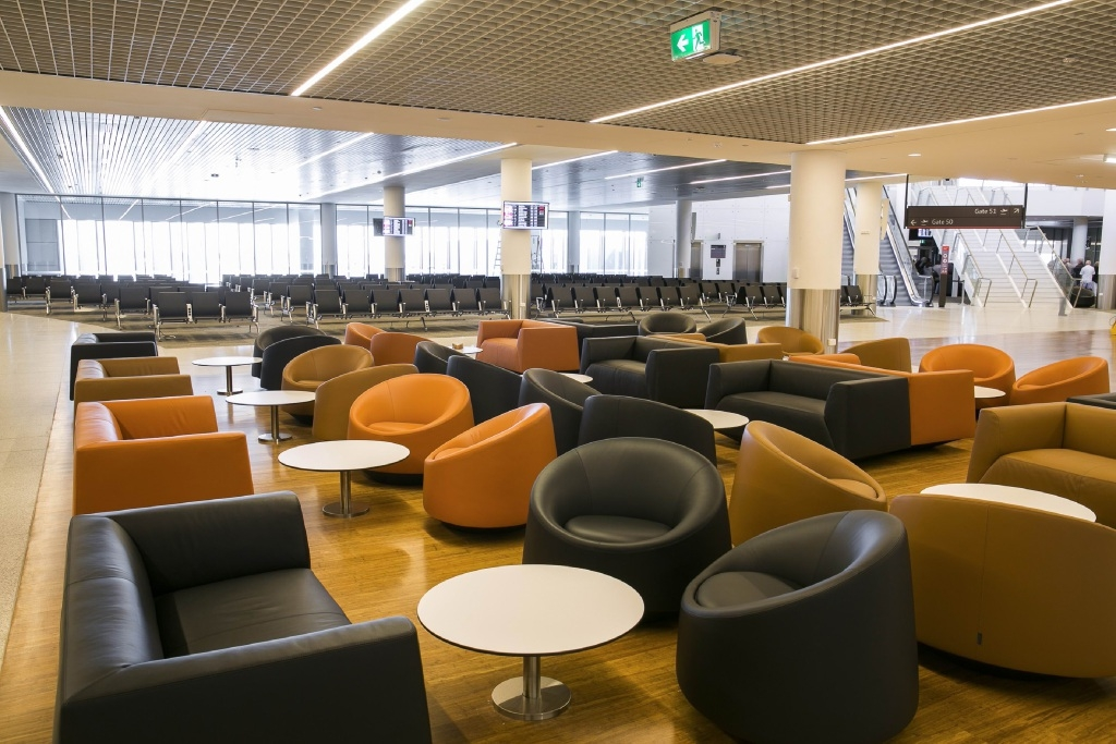 The new international departures lounge.