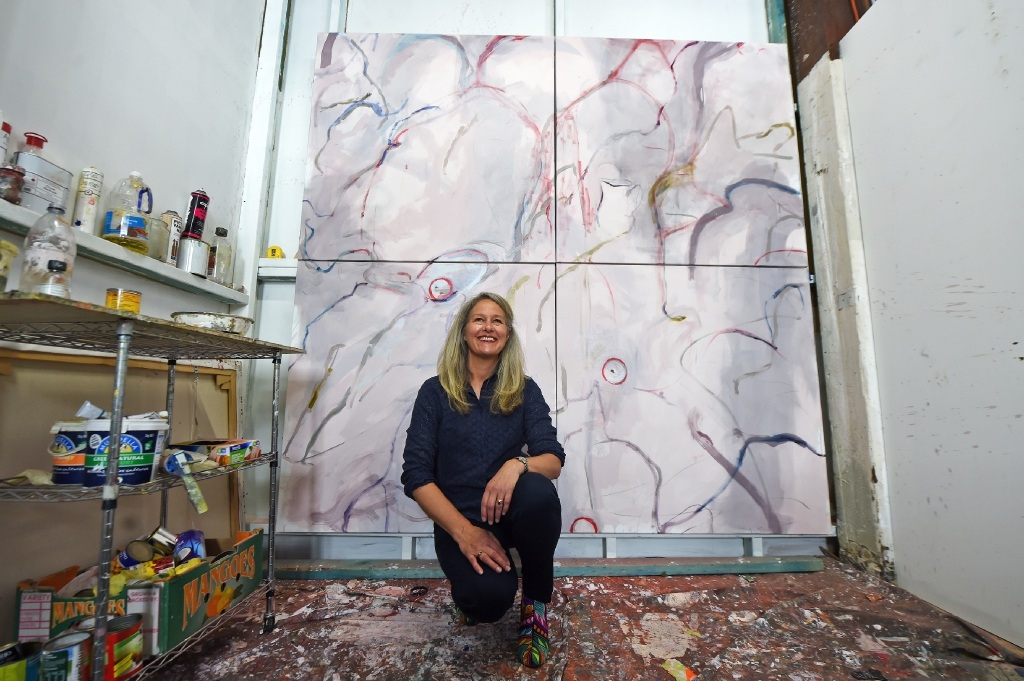 Artist Jo Darvall. Picture: Jon Hewson www.communitypix.com.au   d444566