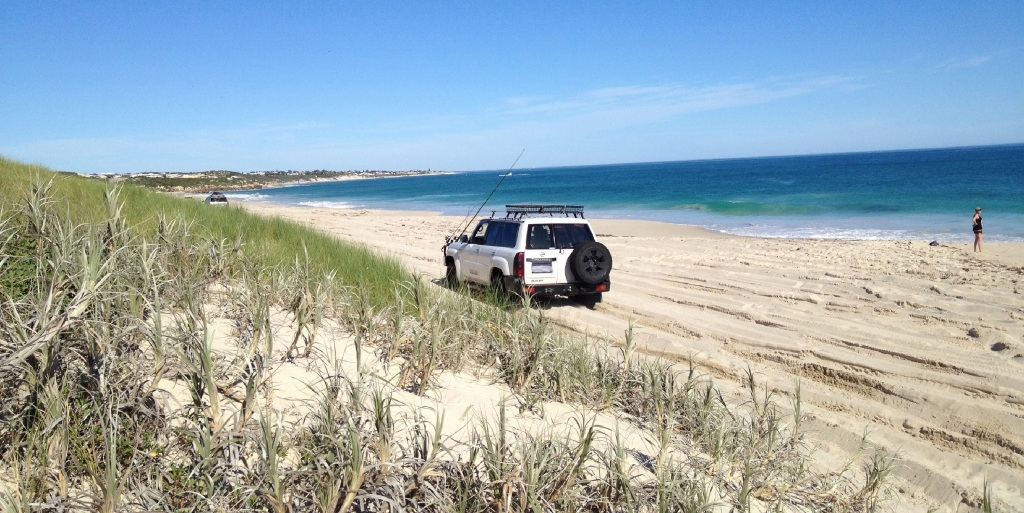 Vehicles, like this one, should not be driven on Jindalee beaches.