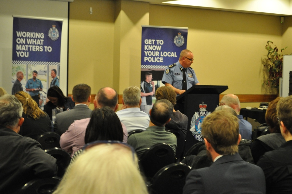 Police officers answered questions on a wide range of topics at a community forum in Joondalup.